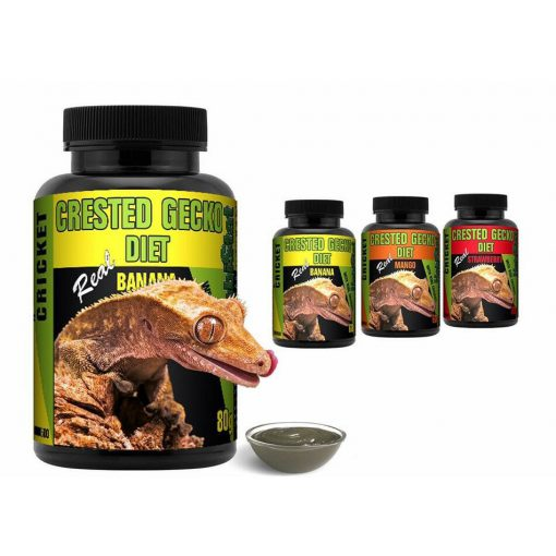 Habistat Crested Gecko Diet Banana Strawberry Mango With Added Crickets