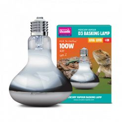 Arcadia UV D3 Mercury Vapour Basking Lamp 100 Watts for tortoises, bearded dragons, lizards and other reptiles that need UV-A and UV-B and heat