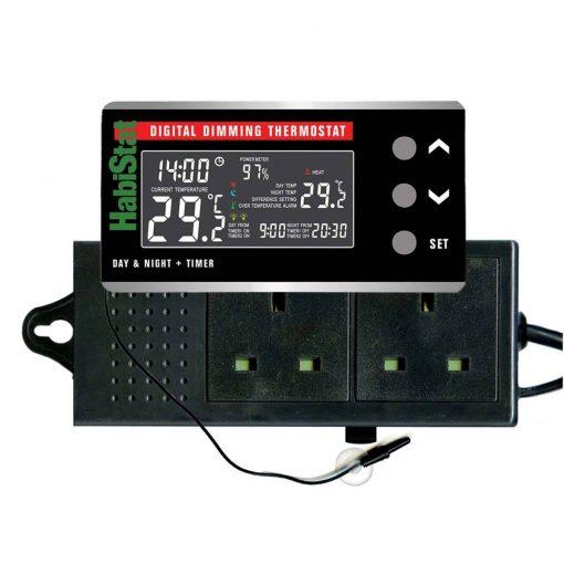 Habistat Digital Dimming Thermostat Day & Night & Timer Reptile Vivarium Thermostat