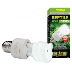 Exo Terra Reptile UVB 100 13 watts Tropical Reptile Bulb for tropical reptile species formerly called Reptile Glo 5.0 Compact