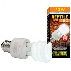 Exo Terra Reptile UVB 150 13 watts Tropical Reptile Bulb for desert reptile species formerly called Reptile Glo 10.0 Compact
