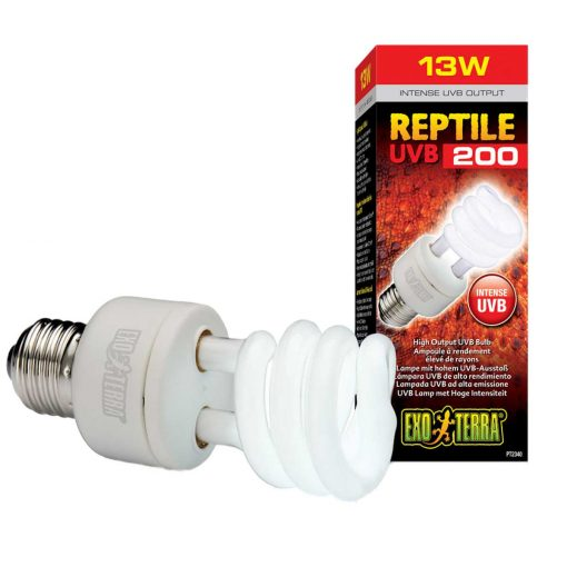 Exo Terra Reptile UVB200 13 watts Reptile Bulb for desert reptile and species requiring very high UV