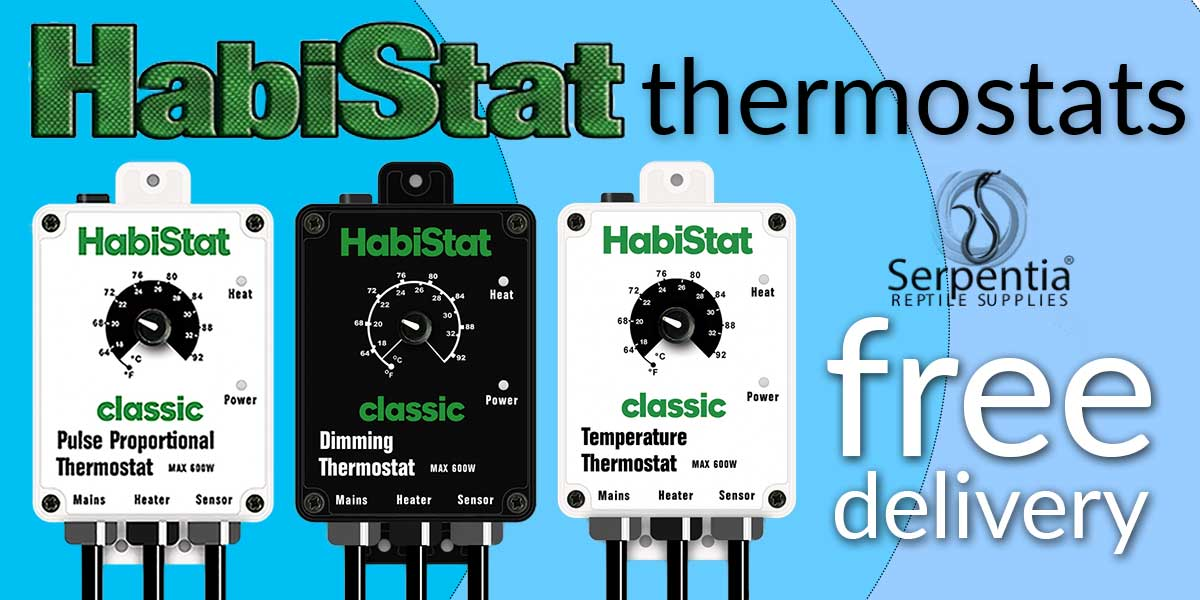 HabiStat thermostats Pulse Proportional, Dimming, Temperature, High Range and Digital Reptile Vivarium Thermostats