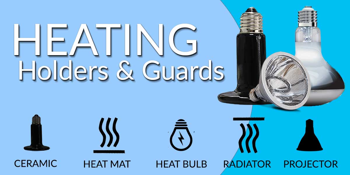 reptile heating, ceramic heat lamps, arcadia deep heat projectors, habistat reptile radiator, retile heat mats, Mercury vapour lamps, safety cages and guards and arcade ceramic lamp holders