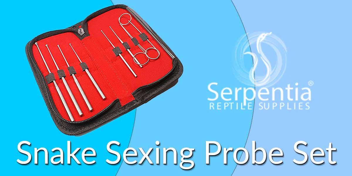 Serpentia 9 Piece Professional Snake Sexing Probe Set is Zip Up Case