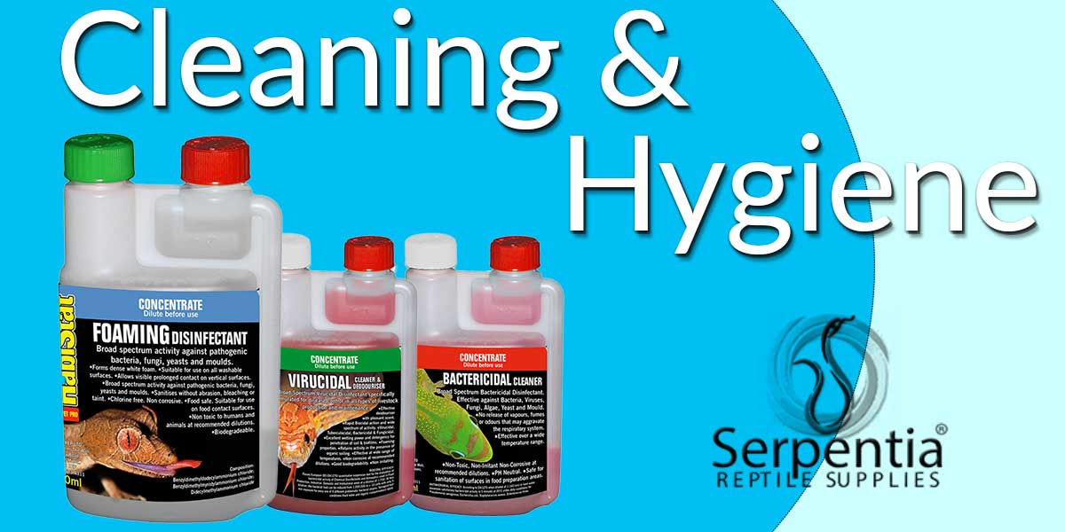 Reptile Vivarium Cleaning and Hygiene - Disinfectants, Antibacterial and Virucidals