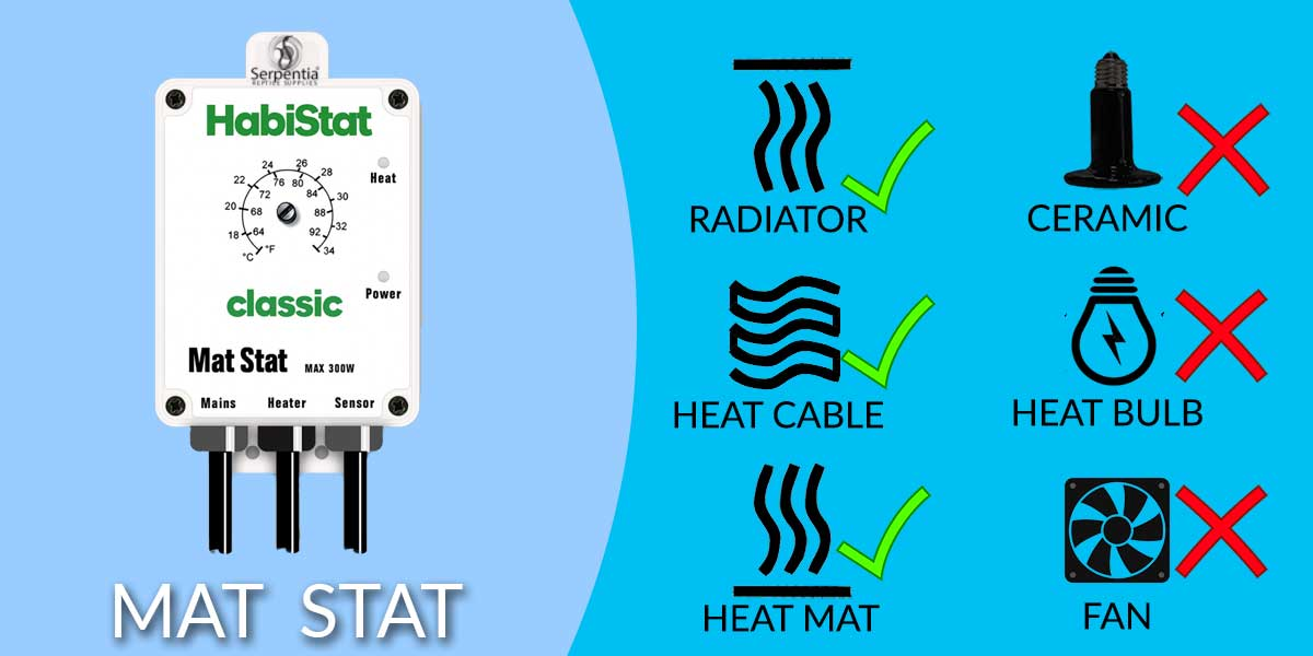 Habistat Mat Stat Reptile Thermostat Heat Source Suitability