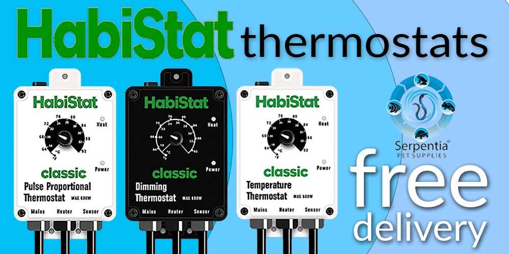 HabiStat Thermostats | Pulse Proportional, Dimming, Temperature, Mat Stat, High Range and Digital Reptile Vivarium Thermostats
