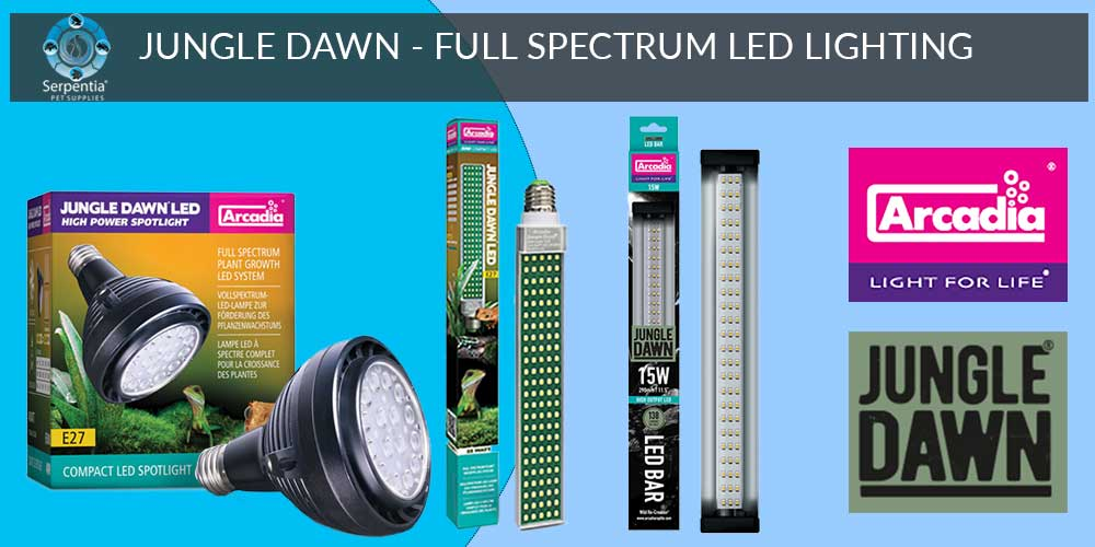 Arcadia Jungle Dawn Full Spectrum LED Lighting for Reptiles and Plant Growth